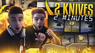 getlinkyoutube.com-CSGO - 2 KNIVES IN 2 MINUTES - INSANE CASE OPENING!!