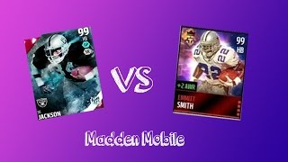 99 Bo Jackson vs 99 Emmitt Smith | Madden Mobile