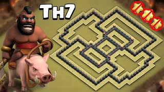 getlinkyoutube.com-Clash of Clans | Best Town hall 7 (TH7) War Base 2016! | Anti drag / Anti Hog / Anti giants