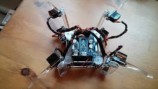 getlinkyoutube.com-Kit Build: Sunfounder Crawling Quadruped Robot #1