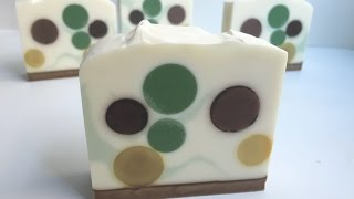 getlinkyoutube.com-Polka Dot Soapmaking & Cutting {aka peppermint mocha soap}