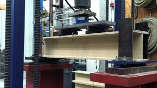 getlinkyoutube.com-Composite Beam Flange Buckling Test W8x8x1/2