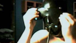 getlinkyoutube.com-Latex Mask /w attached gag/blindfold