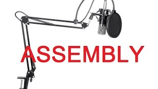 getlinkyoutube.com-ASSEMBLY - Neewer® NW-700 Professional Studio Broadcasting & Recording Condenser Microphone Kit