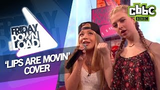 getlinkyoutube.com-Meghan Trainor 'Lips Are Movin' cover with lyrics on CBBC Friday Download