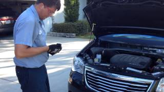 How to setup and pull windshield on a 2012 Chrysler town and country with the Rolladeck