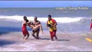 Imagens fortes da  turista que foi atacada por tubarão  na praia de Boa viagem, RECIFE