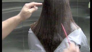 getlinkyoutube.com-How to cut a V SHAPE outline Step By Step (How to cut the V Shape outline haircut)