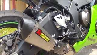 2013 Kawasaki ZX-10R Akrapovic titanium installation