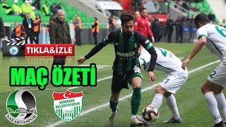 Sakaryaspor- Kırşehir Belediyespor maç özeti