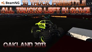 getlinkyoutube.com-BeamNG.drive Monster Jam: 10 Truck Freestyle @ Oakland 2013 With the CRD V3 Truck Pack