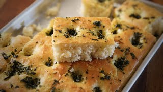 getlinkyoutube.com-Homemade Focaccia Bread  | Italian Bread Recipe | Divine Taste With Anushruti