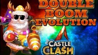 getlinkyoutube.com-Castle Clash Santa Boom Double Evolution! BOOM!