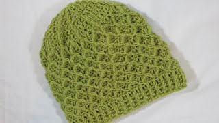 getlinkyoutube.com-كروشيه قبعة بالغرزة الماسية | Crochet Hat With A Diamond Stitch