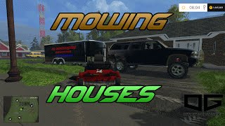 getlinkyoutube.com-Farming Simulator 2015- Mowing Homes
