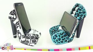 getlinkyoutube.com-❥DIY - Mobile Holder High Heel / Zapato Porta-Celular