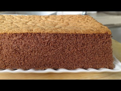 How to Make Fluffy Chocolate Sponge Cake (巧克力海綿蛋糕)