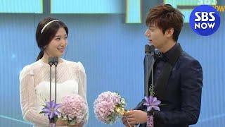 getlinkyoutube.com-SBS [2013연기대상] - 베스트 커플상(이민호,박신혜)