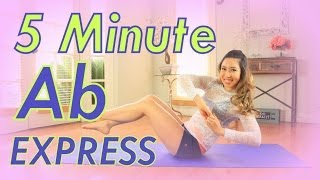 getlinkyoutube.com-5 Minute Ab Express Workout | POP Pilates