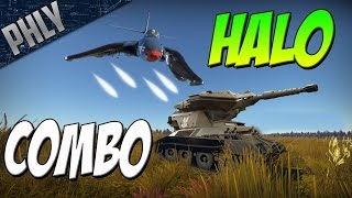 getlinkyoutube.com-HALO COMBO - M-56 Scorpion TANK & F2H BANSHEE (War Thunder Tanks Gameplay)