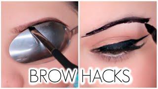 getlinkyoutube.com-Eyebrow Hacks Everyone Should Know!