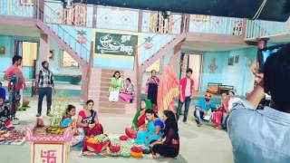 On set fun Mehandi  Laga  ke  Rakhna bhojpuri movie Khesari lal  yadav  kajal  raghwani