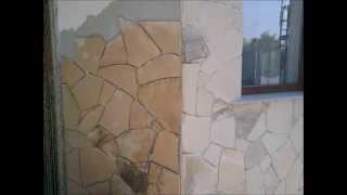 getlinkyoutube.com-Cum se placheaza - monteaza piatra naturala - Natural stone wall cladding