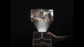 getlinkyoutube.com-الحلقة49: طريقة صنع بروجكتور او شاشة عرض بواسطة كرتون و هاتف | How To Make  DIY Phone Projector|