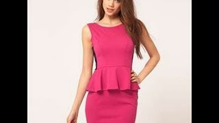 getlinkyoutube.com-HOW TO MAKE A PEPLUM DRESS EASY