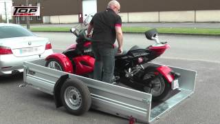 getlinkyoutube.com-REMORQUE PORTE MOTO SPYDER CAN-AM SANS RAMPE MULTIFONCTION
