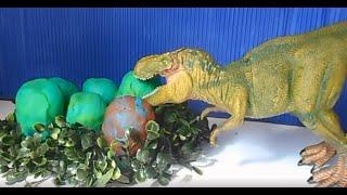 getlinkyoutube.com-Dinossauros de Brinquedos Mini Dinos Poderes da Natureza - Abrindo Ovos de Dinossauro