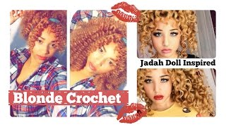 getlinkyoutube.com-Blonde Crochet Braids Tutorial | Marley Hair