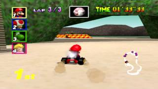 Mario Kart 64 (Mushroom Cup 150cc) - LBF's Second Attempt of Recording A Video Game