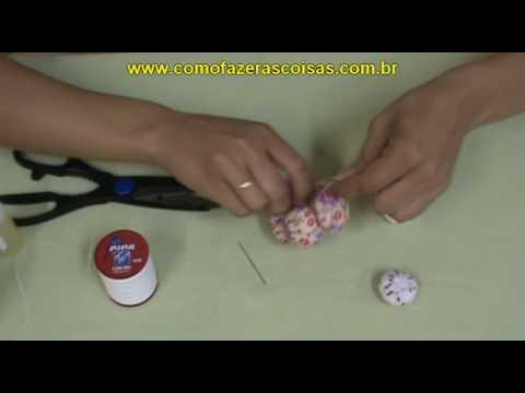 Flor de Fuxico Artesanal Almofadada e Perfumada - parte 2
