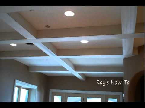 Installing Ceiling Beams And Crown Molding