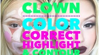 Clown Color Correct Highlight & Contour