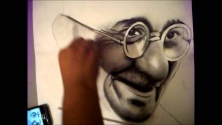 getlinkyoutube.com-Mahatma Gandhi Drawing