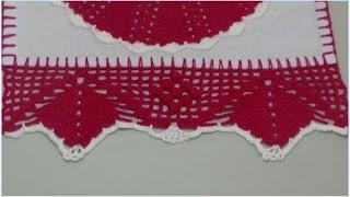 getlinkyoutube.com-Barrado em crochê para panos de pratos *modelo 80*