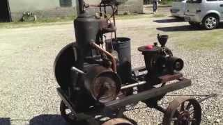 "getlinkyoutube.com-motore d'epoca - antique gas engine SLANZI & LOMBARDINI modello ""Z"""
