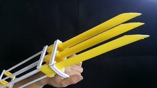 วิธีการทำกระดาษ Wolverine กรงเล็บ | Xmen Wolverine