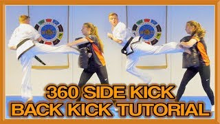 How to 360 Side Kick Back Kick (360 Double) | GNT Tutorial