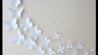 getlinkyoutube.com-Como Hacer Mariposas Para Decorar (MANUALIDADES)