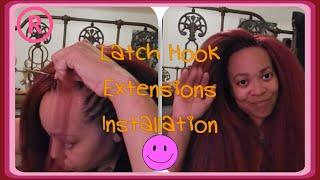 getlinkyoutube.com-Installing Latch Hook Extentions { Crochet Braids }