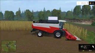 Геймплей комбайна ACROS Plus в Farming Simulator
