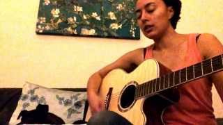 Karen O - The Moon Song - Spike Jonze movie Her (acoustic cover with chords & lyrics)