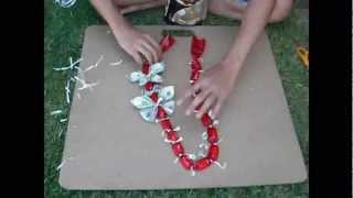 getlinkyoutube.com-HOW TO: JAZZ UP a Simple Candy Lei Chain [REQUEST]