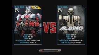 getlinkyoutube.com-Real Steel WRB Fiend VS Albino NEW ROBOT Update Halloween