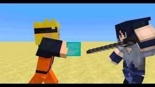 getlinkyoutube.com-Naruto vs. Sasuke-Naruto Minecraft Animation- Part 1