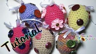 getlinkyoutube.com-Tutorial Uova di Pasqua all'uncinetto | Amigurumi | How to crochet Easter eggs