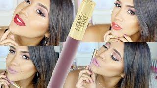 getlinkyoutube.com-Gerard Cosmetics Hydra Matte Liquid Lipstick Swatches - Ydelays
